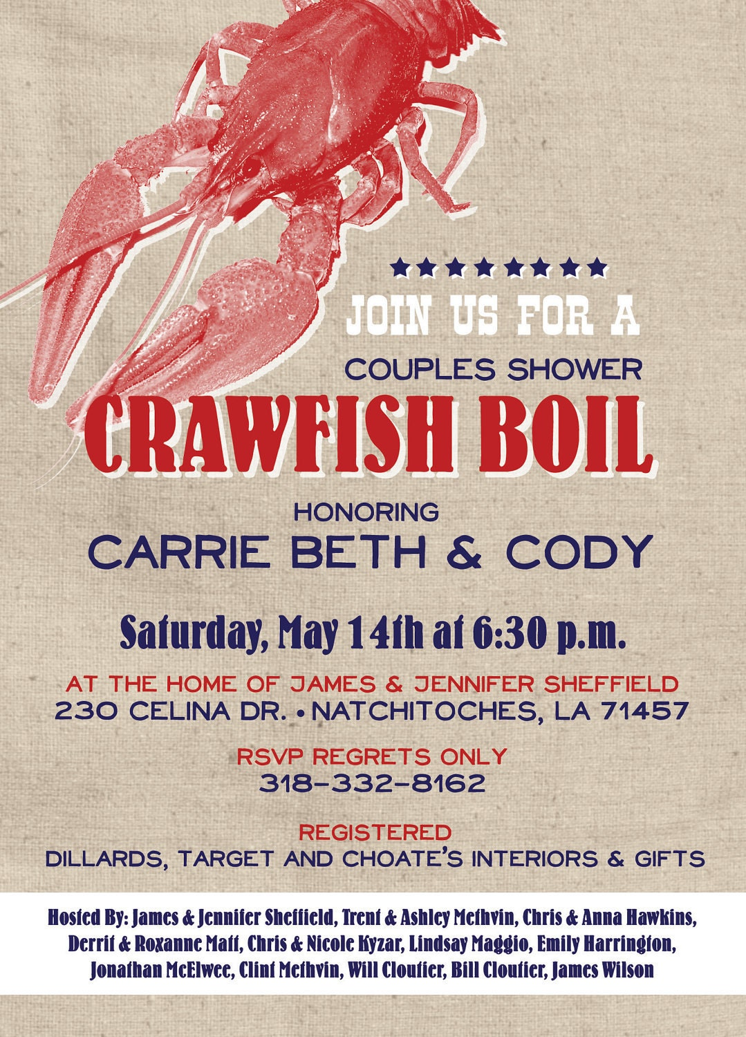 It's just a picture of Peaceful Crawfish Boil Invitations Free Printable