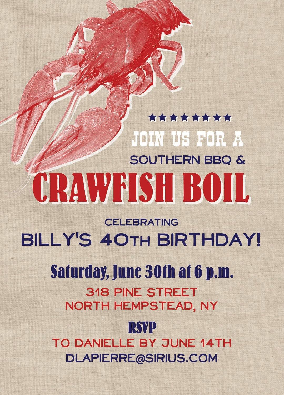 Crawfish Boil Invitations by apinchoflovely on Etsy