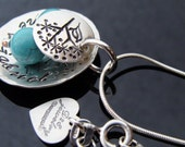 Sterling silver Mama Bird necklace turquoise eggs by D2E Jewelry on Etsy