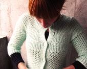 SALE Vintage Minty Fresh Knitted Sweater/cardigan S