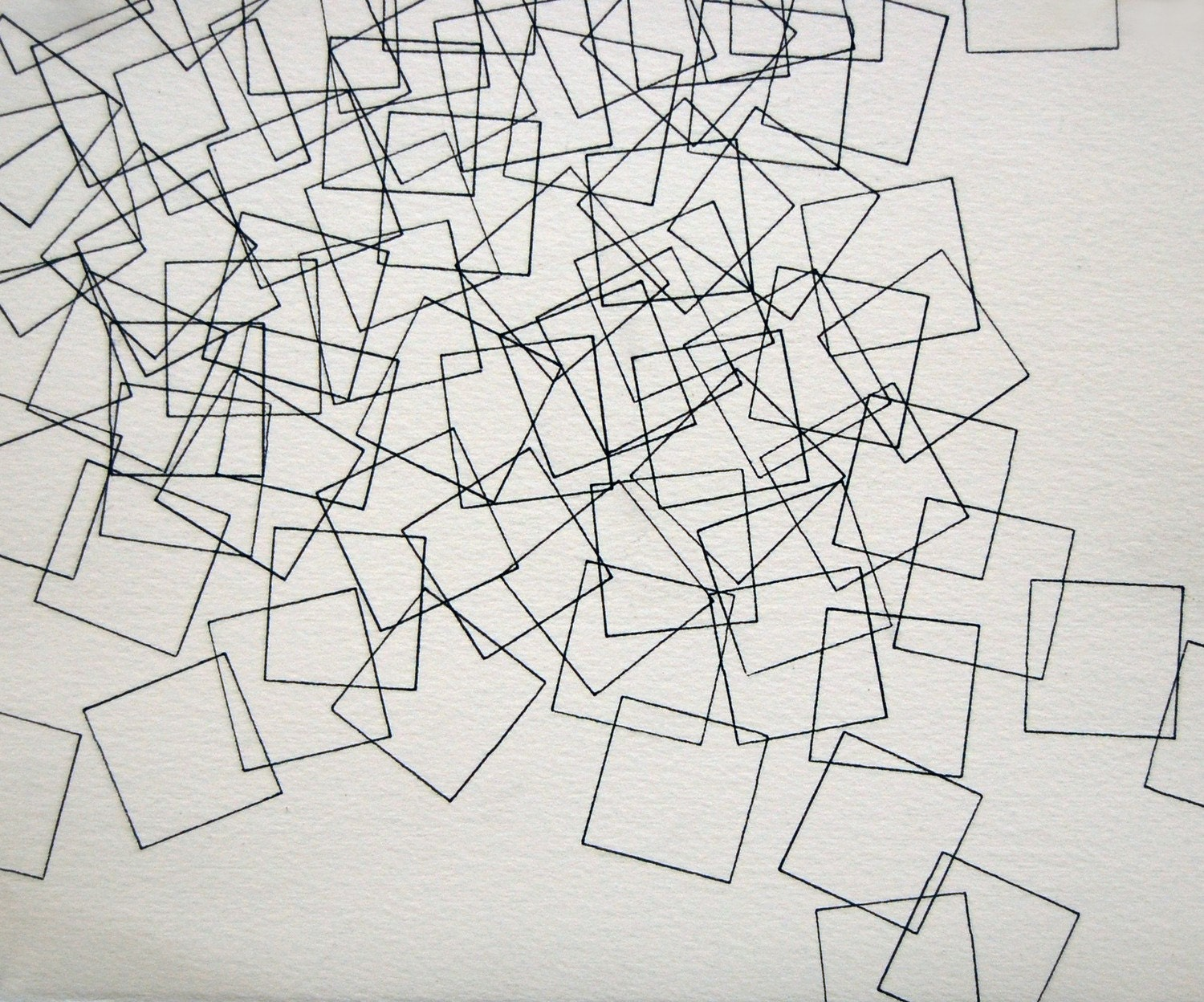 Line Drawing Abstract : Cascade small abstract drawing