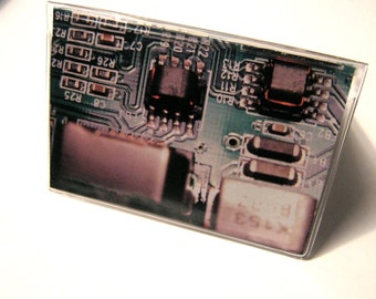 Circuit board vinyl wallet