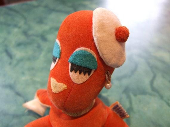 1960s Dakin octopus stuffed animal toy