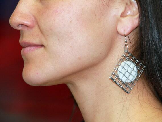 OBERON Felted Disk Cat Hair Earrings