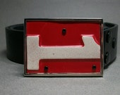 Belt Buckle License Plate Number 1 One