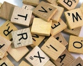 Scrabble Tiles - Wooden Recycled (100 tiles)