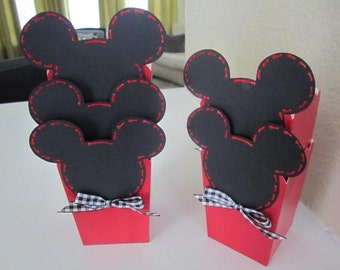 Set of 12 MICKEY MOUSE PARTY Favor Boxes