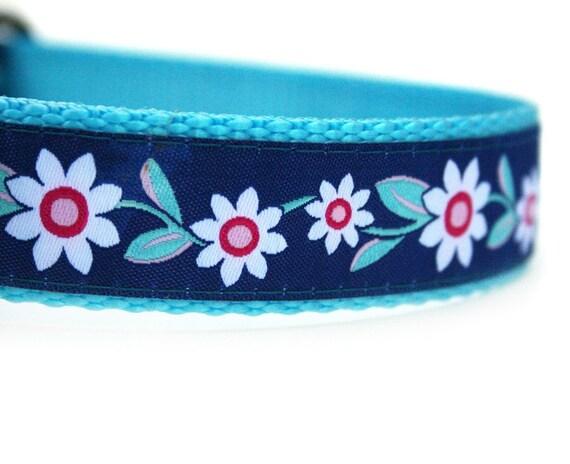 White Daisy Dog Collar