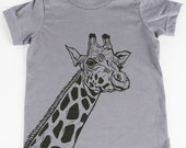Giraffe on Slate American Apparel T Shirt