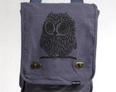 Owl Messenger Bag Denim Blue