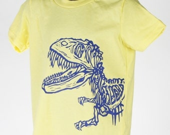 Dinosaur on Lemon Children's American Apparel T Shirt
