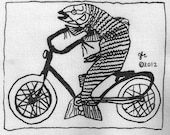 Feminist Fish on a Bicycle