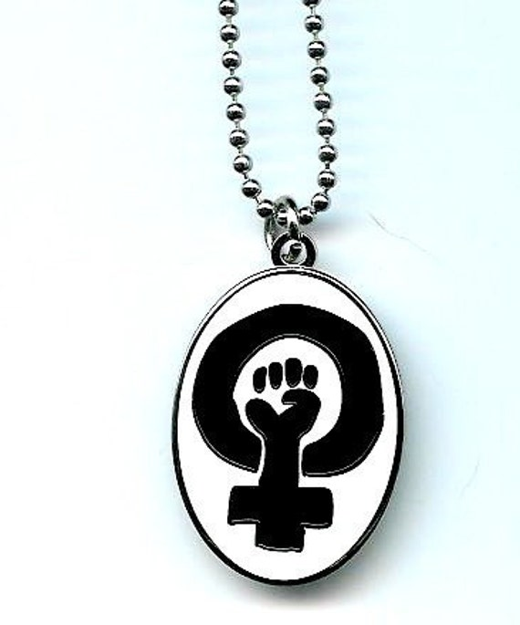 Feminist Fist Necklace With 24 Inch Chain