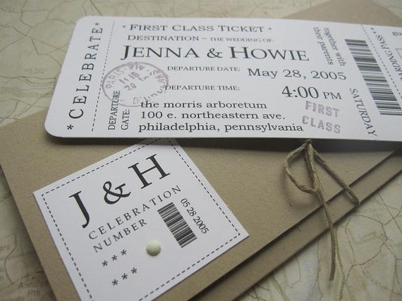 Wedding Website Password Ideas: Items Similar To Boarding Pass Wedding Invitation Package