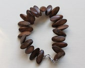 Wooden tribal style bracelet