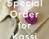 Crochet single rosette pin - For Kassi M.