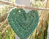 Heart Bunting - Crochet Garland - Pretty Pastel Colors