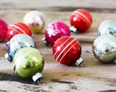 Shiny Brite Small Multi Colored Christmas Balls, Set of 12