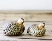 Vintage Ceramic Quail, Pair of Birds