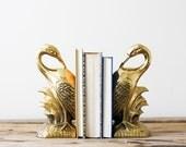 Brass Bird Bookends