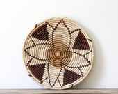 Tribal Coiled Flat Basket
