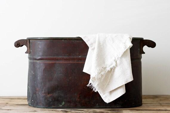 Antique Copper Boiler Pot Wash Tub