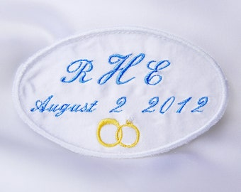 Custom clothing label, Wedding Dress Label,   Wedding favors,  Embroidered label