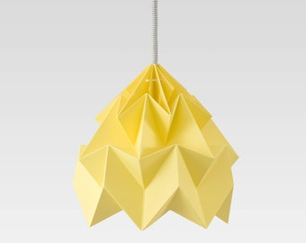origami lamp Moth autumn yellow