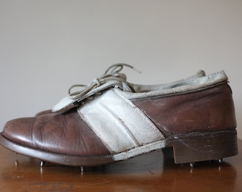 Vintage 1960s Jack Nicklaus Golf Shoes Size UK 5