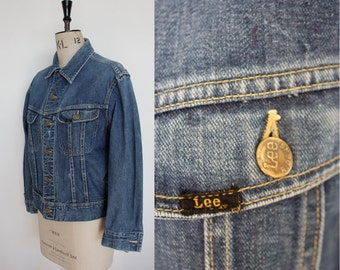 Vintage 1960s 1970s 101 Lee Denim Jacket Size M