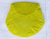 Neon linen small purse - hand dyed