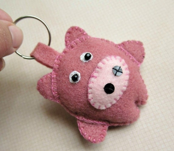 COCHITO (Piggy) - Felt Keychain