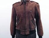 Vintage Brown Suede Members Only Jacket