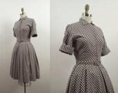 1960s Shirtwaist Dress / 60s  Wool Dress