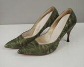 1960s Heels / 60s Stiletto Heels / Size 8 1/2
