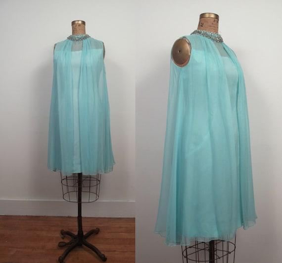 1960s Party Dress / 60s  Trapeze Dress / NOS