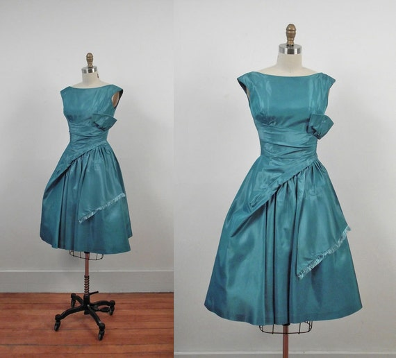 1950s Party Dress / 50s Prom Dress / Jonny Herbert Original