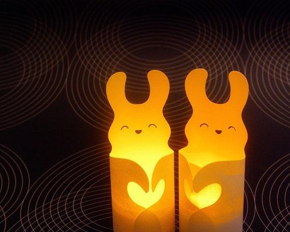 2 Little Bunny Luminaries