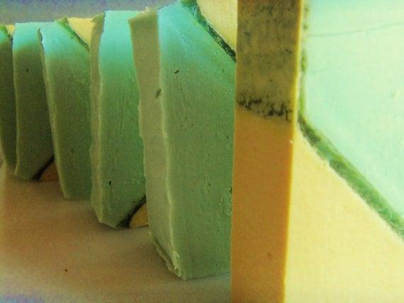 1 Zesty Pineapple Cilantro soap  approx 4oz vegan