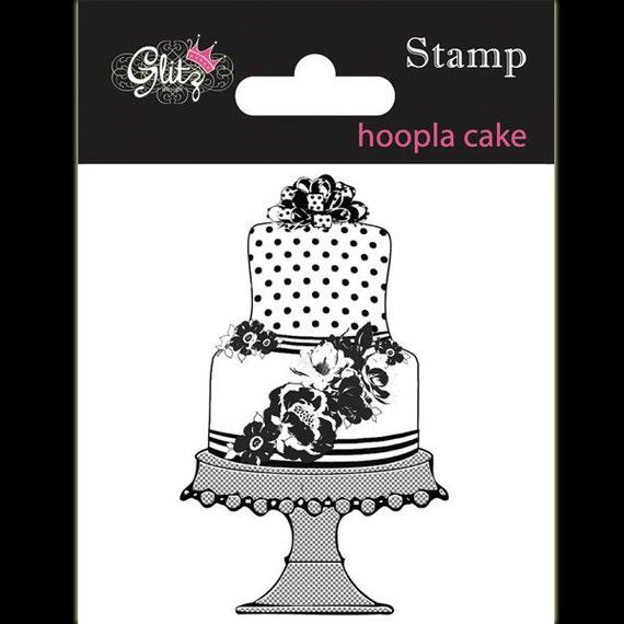 """Glitz Hoopla """"Cake"""" Stamp"""