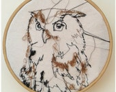 """Embroidery Owl 6"""""""