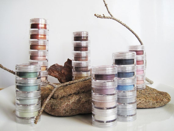 3 pc - Natural Mineral Stackable Eye Shadows and Liners