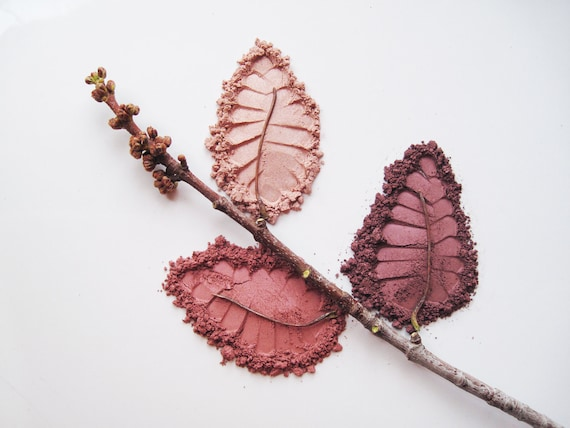 Plum and  Mauve Kit - Set of 3 Pure and Natural Eye Shadows