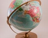Christmas in July Sale Vintage Globe Retro Home Decor