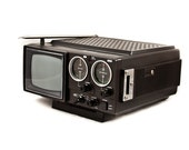 Vintage Television Portable TV with Radio