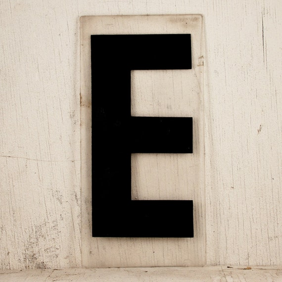 Black Friday Etsy Cyber Monday Vintage Plastic Sign - Typography Industrial Letter E