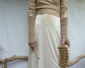 Lightning Strike SALE Sand Gauntlets, hand knitted in eco cotton organic yarn