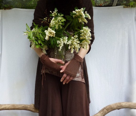 Arborist Cuffs, organic cotton, bark brown