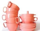 vintage pink melamine collection