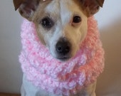 Pink Chunky Knitted Dog Hoodie